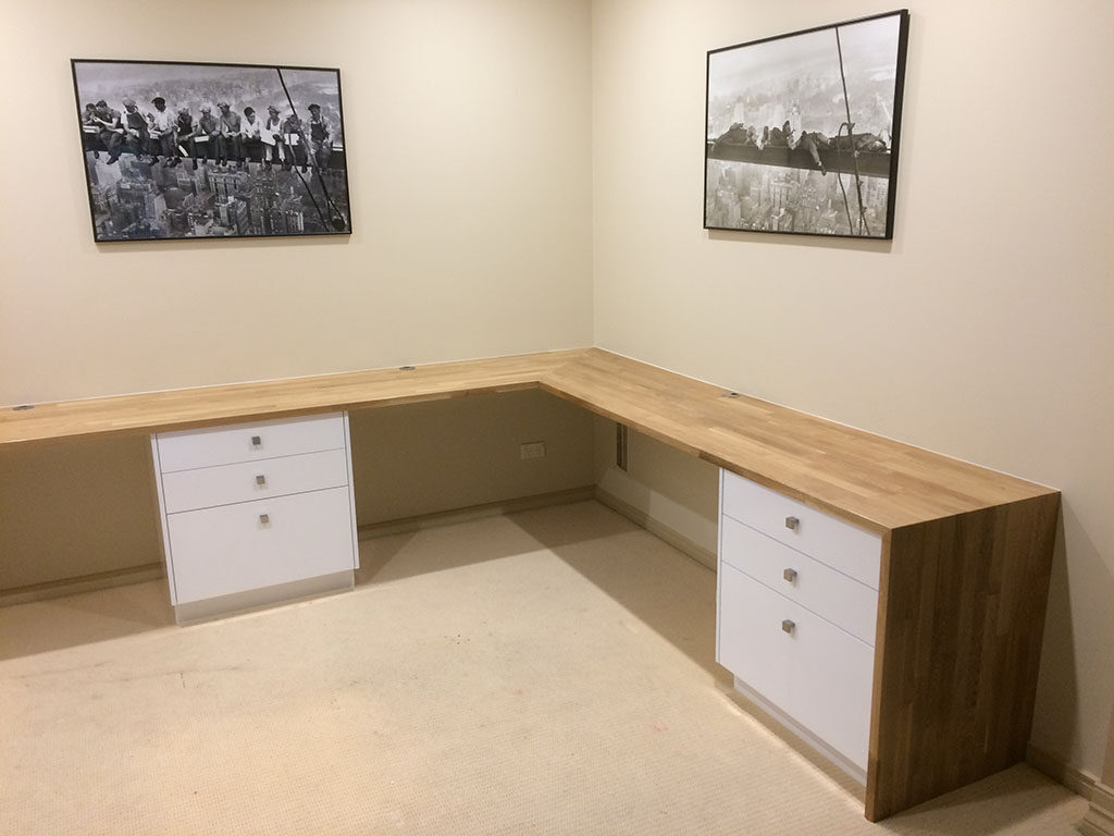 custom made office furniture. Custom Made Corner Office Table And Drawers With 30mm Solid White Oak Desktop Furniture T